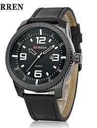 CURREN® Men's Army Design Military Watch Calendar Japanese Quartz Leather Strap Cool Watch Unique Watch