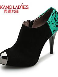 Zapatos de mujer Cuero/Cachemira Tacón Stiletto Tacones/Comfort/Puntiagudos/Punta Cerrada TaconesBoda/Exterior/Oficina y