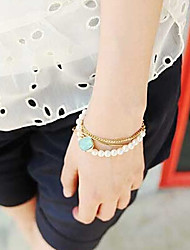New Arrival Fashional Popular Multilayer Peart Bracelet