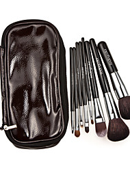 8pcs sistemas de cepillo del maquillaje encima de visón