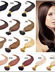 1 Strand/1g 100G/Lot Natural I Tip Hair Extensions Keratin Hair Extensions