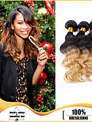 3Pcs/Lot Virgin Human Hair Weaves Body Wave Hair Weft Brazilian Hair Bundles Ombre Brazilian Human Hair Weaves