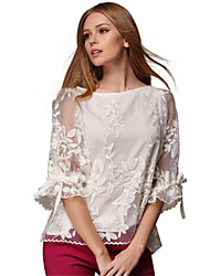 Women's  Vintage Sexy Casual Cute Work ¾ Sleeve Blouse , Lace