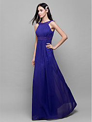 Lanting Floor-length Chiffon Bridesmaid Dress - Regency Sheath/Column Scoop
