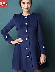 Muairen®Women'S European Style Cape-Style Coat Jacket Slim