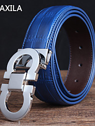 Unisex Calfskin Waist Belt , Vintage/Party/Work/Casual business casual Trend fashion plate buckle