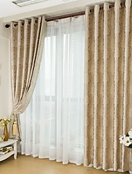 Two Panels European Contracted Style Jacquard Window Shade Curtains Drapes