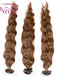 """neitsi 20 """"1 г / с кератином слияние у прибить наконечник естественная волна 100% человеческих волос расширения 33 #"""