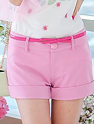 Shorts ( Élastique/Polyester ) Informel/Travail Femme