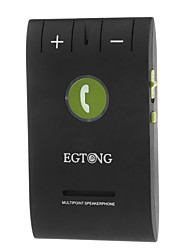 EGTONG 6E Portable Multi-point Sun Visor Clip-on Bluetooth Hands-free Car Kit Speakerphone w/ Cigarette Lighter - Black