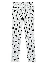 Damen Mittlere Hüfthöhe Mikro-elastisch Jeans Skinny Hose Punkte