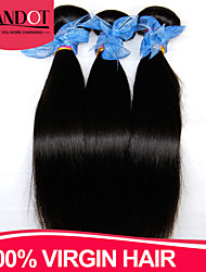 "3Pcs Lot 8-28"" Indian Virgin Hair Straight Natural Black Human Hair Weave Bundles Soft Tangle Free Hair Extensions Wefts"