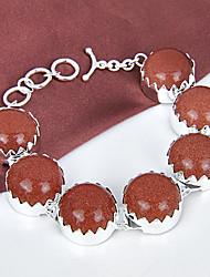 melhor preço incêndio redondas estrelas fogo sol sitar gema 0,925 prata pulseiras pulseiras corrente de ligação para festa de casamento
