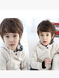Capless High Quality Synthetic Short Straight  Brown  Children's Wigs