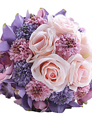 2015 Hot Wedding Gift Manual Gifts   Wedding Decoration Artificial Flowers  Bride Bouquet Hand Bouquet