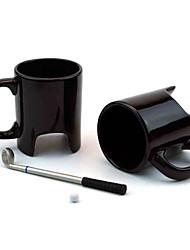copo do golfe em forma putter caneca definir caneca de café cerâmica