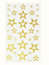 2015 New Metallic Tattoos Stars Design Temporary Tattoo Body Art Gold Tatto Flash Tatoo Stickers