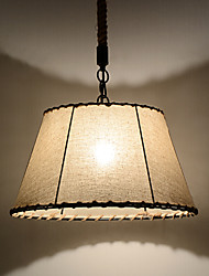 1 Lights/Pendant Lamps/Vintage Style/Industry Style/Yellow/Cloth & Metals Drop Light