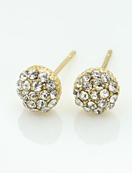 Earring Stud Earrings / Drop Earrings Jewelry Women Alloy / Cubic Zirconia / Platinum Plated 1set Gold / Silver