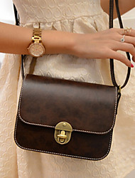 Women Casual/Outdoor PU Button Shoulder Bag