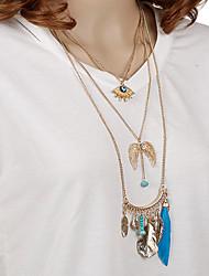 Hand Beaded Tassel Pendant Necklace