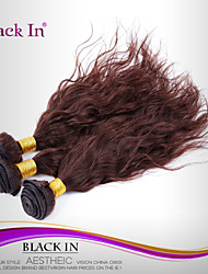 "3 Pcs Lot 12""-30"" Brazilian Natural Wave Virgin Hair Wefts Chocolate Brown Human Hair Weaves Tangle Free"