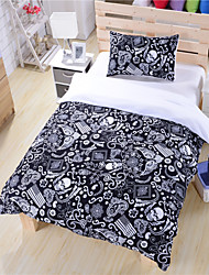 Black And White Bedding Paisley American Flag Bedding Skull Bedding Duvet Cover Set