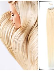 grado 5a 1pc / lot 24inch / 60cm multicolores extensiones de pelo micro anillo rectas cabello humano teje 100s / pack 0,7 g / s
