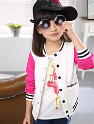 "Girl's Cotton/Spandex Coat , Winter/Fall Long Sleeve.""Baseball Uniform"""