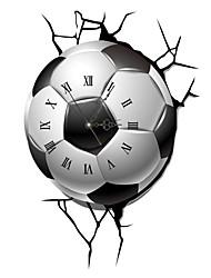 PAG®Modern Design 3D Effect Football Pattern Clock Sticker 14.96*21.97 in