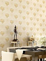 contemporaine papier peint art déco 3d mur de papier peint simple fleur couvrant l'art non-tissé mur de tissu