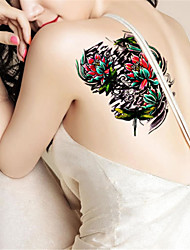 1Pcs Tide Waterproof Lotus Flower Odonate Temporary Tattoo Temporary Body Art Tattoo Sticker