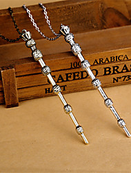 Women's Fashion Jewelry Vintage Casual Alloy Magic Wand Pendant Necklace