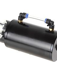 lingotes de alumínio rodada tanque 750ml motor de corrida prendedor preto reservatório de óleo / lata