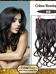 5 Clips Wavy Dark Brown (#2) Synthetic Hair Clip In Hair Extensions For Ladies more colors available
