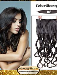 5 clips bruns ondulés (n ° 2) clip de cheveux synthétiques sombre dans les extensions de cheveux pour plus de couleurs disponibles pour