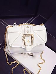 Women 's PU Sling Bag Shoulder Bag - White/Gold/Black