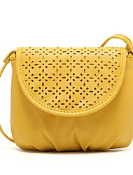 Women 's PU Sling Bag Shoulder Bag - Yellow