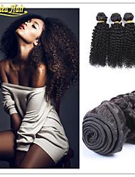 3 unidades / lote em cabelo natural qualidade superior 8a estoque 8-32inch brasileiro virgem tecelagem onda afro trama