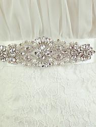 Dress Waist White Belt Hand Sewn Crystal Rhinestone Jewelry Bride