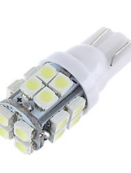 lorcoo ™ 20pcs x t10 20smd 3528 bianco condotto la lampadina luci auto 194 168 2825 5W (2 set)