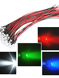 Leitungslänge in 20cm LED 12V 5mm Licht rot / weiß / blau / grün / rgb 20pcs Bundle