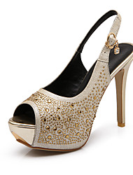 Women's Shoes  Stiletto Heel Peep Toe/Platform Sandals Office & Career/Dress Silver/Gold