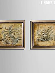 e-FOYER encadrée art de toile, une plante encadrée impression sur toile ensemble de 2