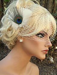 Hand Made Wedding Feather Hair Clip Fascinator Headpieces Fascinators 022