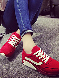 Canvas Lady Women's Shoes Black/Blue/Red Wedge Heel 3-6cm Fashion Sneakers