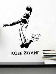 stickers muraux de style de décalcomanies de Wall Mur des célébrités du sport kobe pvc autocollants