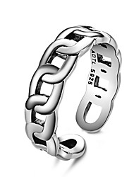 Rings for Men 925 Silver sterling jewelry Fashionable Personality Exaggerated European & American Chain Ring Set