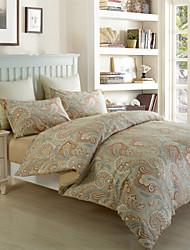 H&C Long Staple Cotton 1200TC Duvet Cover Set 4-Piece Flowers Pattern MT13-003