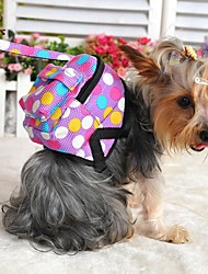 Dog Backpack Cute and Cuddly Polka Dots Multicolor Fabric